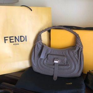 Fendi leather grained spy bag